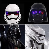 empire tv achat en gros de-Ultimate Star Wars Darth Vader Storm Trooper Masque lumineux Empire Clone Soldats Party Cosplay LED Light Mask Party jouets amusants