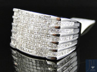 Wholesale Real Mens High End Princess Cut Vs Invisible Diamond Pinky Fashion Ring Ct