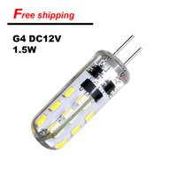 En vente 10pcs beaucoup G4 Lampe LED 12V 24/48 SMD silicone Maïs Lustre Lustre en cristal à bulbe 3014SMD Projecteur Blanc / Blanc chaud Lumière