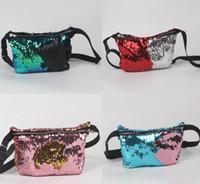 Wholesale DHL FREE Fashion NEW Sequins Handbags Women Waist Pack Designer waist bag fanny pack Women s makeup bag Party mermaid Waist Bags