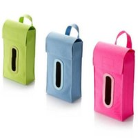 Wholesale Tissue Box Cover Holder Home Hanging Paper Box Storage Bag Pouch Car Tissue Holder