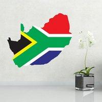 africa wallpaper - Flag Map of South Africa Illustration Landmark Wall Sticker Wedding Decor Waterproof Removable Vinyl Wallpaper Decal Holiday Decoration