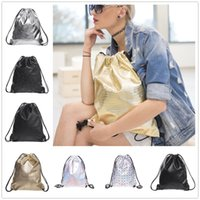 Wholesale Silver Solid PU backpack women mochilas mujer New leather backpack mochila masculina bagpacks school bags for teenagers