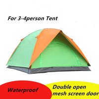 Wholesale DHL Fedex Waterproof Double Layer person Outdoor Camping Tent Hiking Beach Tent Tourist bedroom travel UV Protection