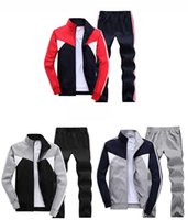 best sport coats - AD Best selling men sport suit adult early morning runs cotton blend men tracksuits adult clothing coat and pant size L XL