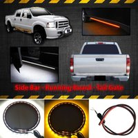 Wholesale High Quality k SMD Lamp DC12 V quot Amber White LED Truck Switchback Running Turn Signals Light Car Door Light