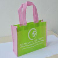 Wholesale reusable shop hand bag shopping cart gift non woven bag webshop eco recycle bag with one color logo print