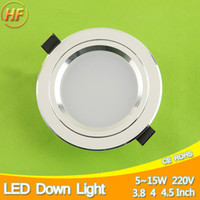 luces de techo de metal al por mayor-Venta al por mayor Ultra brillante de metal helado Downlight 5w 7w 9w 12w 15w luz del punto 110 ~ 220v techo Down iluminación interior de iluminación Home Chandelier