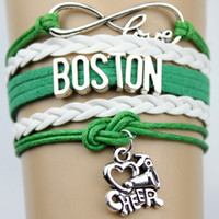 basketball team gifts - Top Quality Infinity Love Boston basketball Team Bracelet Customized Celtics Wristband friendship Bracelets