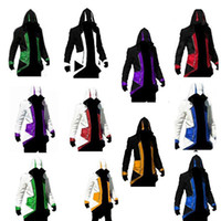 Wholesale 2016 New Assassins Creed Cosplay Overcoat Colors Fashion Assassin s Creed Cool Men Tops Slim Connor Jacket