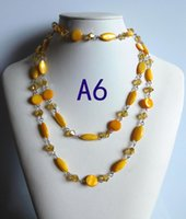 Wholesale New style Natural Agate shell Crystal Beaded Necklaces jewelry mixed style Please tell Serial number A6