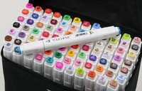 Wholesale New TOUCH5 five Double Headed Art Mark touch five Marker Pen with bag colorful Drawing pens brush Christmas DHL