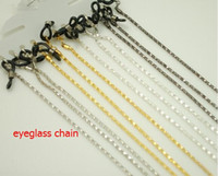 Wholesale HOT SALE four colors metal sunglass eyewear neck cord chain retainer strap lanyard holder eyeglass glasses retainer