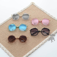 Cheap Beach childrens sunglasses Best Girls Antireflection glass accessory