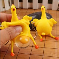 Wholesale Hug Me Creative Toys Spoof Laying Hens Funny Vent chicken Crowding Decompression Funny Under the Egg Yolk EC