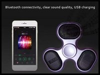 Nuevo Bluetooth Music Spinner inalámbrico Fidget Spinner Descompresión Juguete Led Flash Light EDC Fidget Juguetes Hand Spinner Sound Spinning