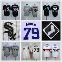 Men white sox baseball shirts - 2016 Majestic Jose Abreu Jersey Chicago White Sox Baseball Jersey Authentic Stitched Baseball Shirt Black Gray White