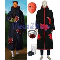 akatsuki tobi costume - Anime Naruto Akatsuki Tobi Madara Uchiha Deluxe Edition Cosplay Costume in Combo Set Cloak Mask Boots Ring