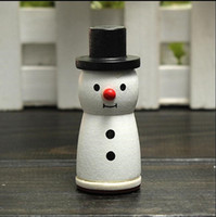 Wholesale New Arrival of Cute Wooden Snowman Stamp Snowflake Gift Scrapbooking Card Making Craft DIY
