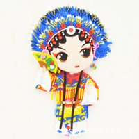 beijing culture - Beijing Opera stereo facebook Fridge magnet wind characteristics of Chinese traditional opera culture creative gift Q version magnet