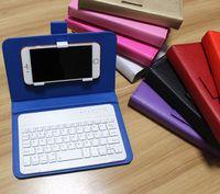 Flip Funda de cuero con soporte Bluetooth teclado de teléfono Bolsas para Apple iPhone 6 6S iPhone 5 5s Celular Funda para HTC Huawei Xiaomi OPPO Vivo