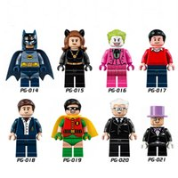 Wholesale Mini Figures Building Blocks Super Hero Bat Cave Bricks Assembling People Aberdeen Batman Robin Clown Catwoman For Years Kids