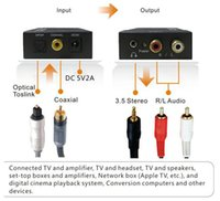 analog adc - Analog to Digital Signal Audio Sound Adapter ADC Converter Optical Coaxial RCA Toslink SPDIF Adaptor TV