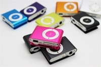 Wholesale Mini Clip MP3 Player without Screen Support Micro TF SD Card Sport Style MP3 Metal mp3 MP4 Players Retail Box