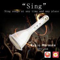 Wholesale KTV Wireless Bluetooth Microphone with Mic Speaker Condenser Mini Karaoke Player KTV Singing Record for Smart Phones Player