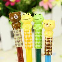 Wholesale Bag Deli Cute Kawaii Cartoon Korean Japanese Bear Frog Pencil Toppers Office And School Supplies Stationery Refills