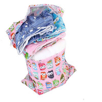 baby nappy backpack - OhBabyKa Baby Nappy Bags Reusable Diaper Bags Double Zipper Wet Bags Diaper Backpack Waterproof Character Baby Changing Bag