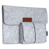 Wholesale dodocool Inch Laptop Felt Sleeve Envelope Cover Ultrabook Carrying Case Notebook Protective Bag with Mouse Pouch DA58
