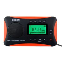 al por mayor radio 27-¡Venta al por mayor-Caliente! DEGEN DE-27 Radio FM estéreo MW SW DSP Digital Receptor de la banda mundial de radio MP3 Player Portable Radio Venta al por mayor Y4218A