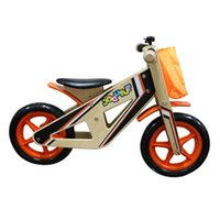 Wholesale Environmental Painting Various Styles Wooden Balance Bike Burlywood Best Gift For Children