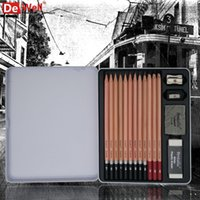 artist drawing tools - Artist set H B Professional Sketch Pencil Set For Drawing Tools Charcoal Pencils Set Children Gifts Art Supplies