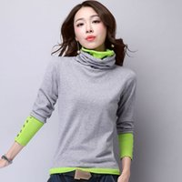 Wholesale Cashmere Sweater Women Turtleneck Long Sleeve Pullover Ladies sweaters Fashion Female Patchwork Knitted Sweater Female Warm Tops