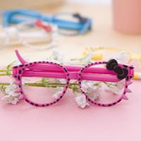 art glass candy - Korean pen glasses glasses leopard ballpen creative candy color pen in Children s Day stationery