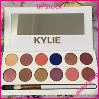 Wholesale 2017 New Kylie Jenner colors Eyeshadow palette with pen Royal Peach Palette Kyshadow In Stock