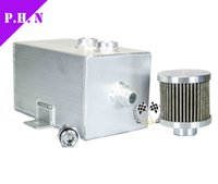 Wholesale L Aluminum oil catch can tank with breather drain tap LT in stock ready to ship