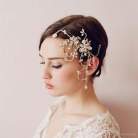 bridal hair ornament - Twigs Honey Hot Bridal Headbands Bohemian Diamond Crystal Pearl Ornaments Hair Accessories ReaL Images Rose Gold Tiaras