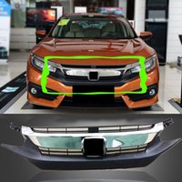 auto grill covers - 1x For Honda Civic TH Car Vehicle Auto Front Bumper Cover Grille Trim Grill LJ DIY D