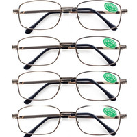 Wholesale 4 PRS Mens Womens Classic Stylish Reading Glasses Spectacles with Case in Strengths New