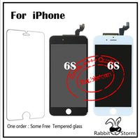 Wholesale Original Real D Touch Response Fast For Iphone s quot LCD AAA Replacement Display Touch Screen Digitizer Assembly White Black Free DHL