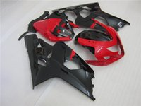 aftermarket kits - NEW high quality Injection fairings Aftermarket ABS Black And Red GSXR600 K4 GSXR750 Good Quality Fairing Kits For Suzuki