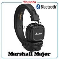 Cheap MARSHALL MAJOR II wireless HEADPHONE Bluetooth headset Music HIFI headset Black High quality vs Monitor wired headphones DHL free shipping