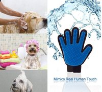 Wholesale Chirstmas Good Quality Pet GLove True Touch Cleaning Massage Removal Glove Bath Dog Cat Brush Comb Hair Cleaning Tools