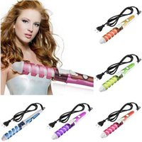 Wholesale New Professional Hair Curler Electric Magic Hair Iron Roller Pro Spiral Curling Iron Wand Curl Styler Hair Curling Irons Hair Styling Tools