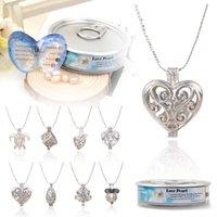 Perle collier pendentif Prix-1 Set Love Wish Collier de perles Set Oyster Drop Pendant