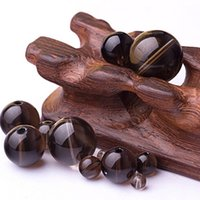 Wholesale 10pcs Artificial crystal beads scattered brown striped beaded crystal bead jewelry DIY Jewelry accessories
