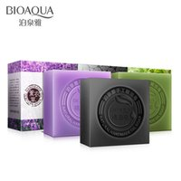 bathing face soap - BIOAQUA Natural Handmade Oil Soap Charcoal Matcha Aloe Rose Milk Essence Oil Facial Soap For Bathe Acne Exfoliating Face Care